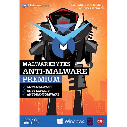 Malwarebytes Anti-Malware Premium 2017 (PC) - 3 utilisateurs - 1 an
