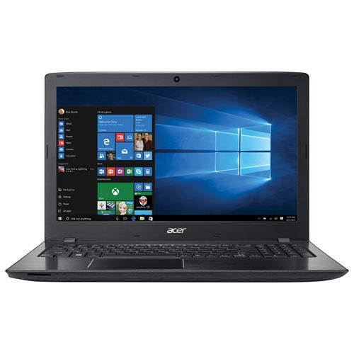 Portable de 15,6 po Aspire E15 d'Acer - Noir-fer (Core i3-6100U d'Intel/DD 1 To/RAM 8 Go/Win 10)