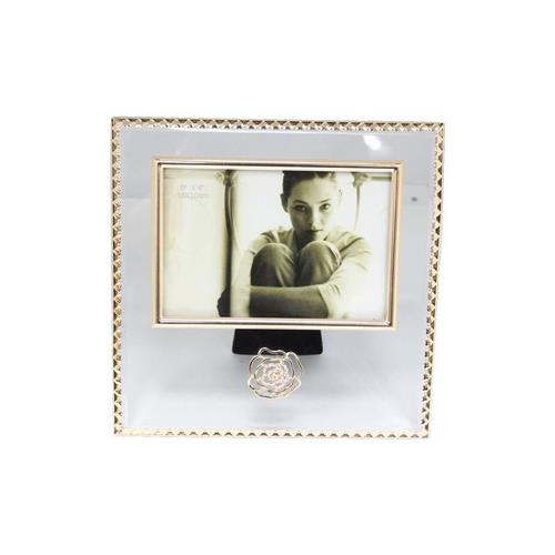 """Elegance Glitzy Rose Crystal Photo Picture Frame 6"""" x 4"""""""