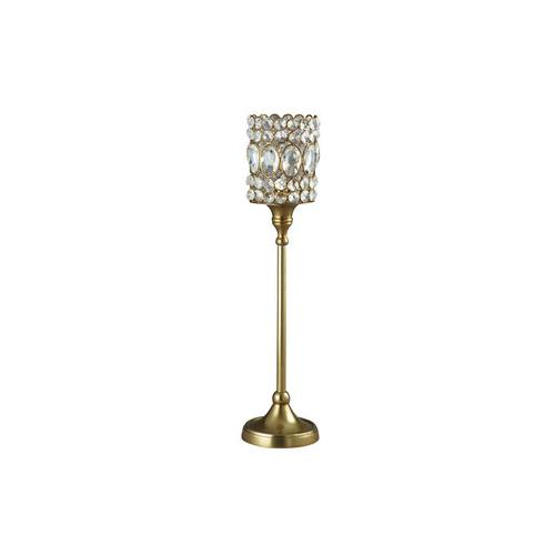 """Elegance Sparkle Beaded Crystal T-Lite Candle Stand - Large H: 17.5"""" Dia: 3.25"""""""