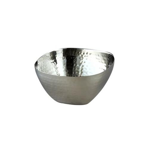 """Elegance Stainless Steel Hammered Square Bowl 8"""""""