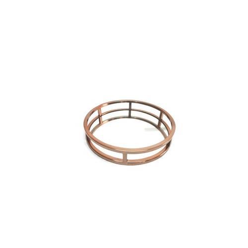 Elegance Copper Round Mirror Stainless Steel Tray