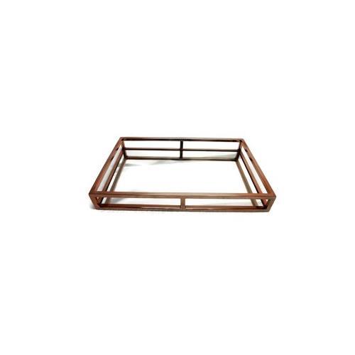 Elegance Copper Rectangular Mirror Stainless Steel Tray