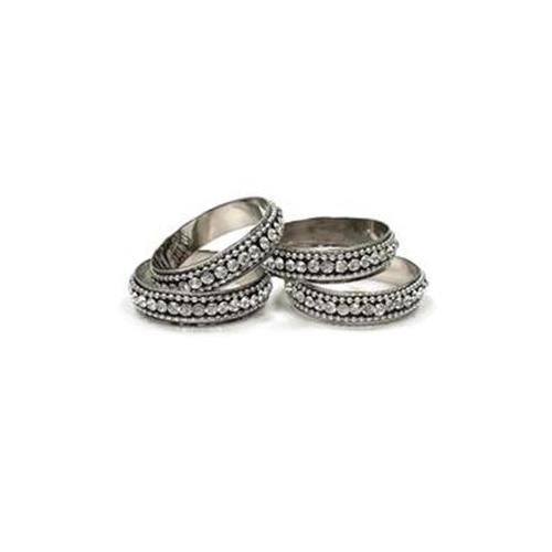 Elegance Chatons Napkin Rings (Set of 4)