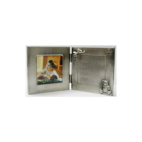 Elegance Pewter Birth Record Photo Frame