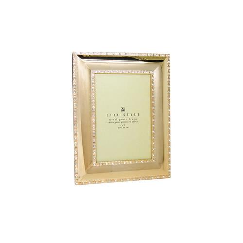 """Elegance Gold Plated with Sparkling Crystal 4"""" x 6"""" frame"""