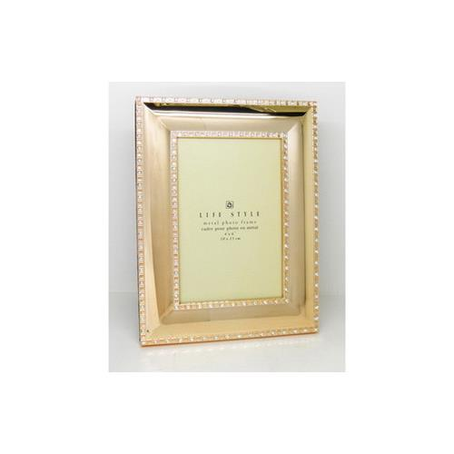 "Elegance Gold Plated with Sparkling Crystal 5""x 7"" frame"
