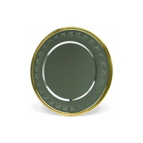 """Elegance Embossed 2-Tone Silver and Gold 12"""" Charger Plate"""