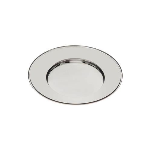"Elegance 13"" Chrome Plated Chargers, Set of 4"