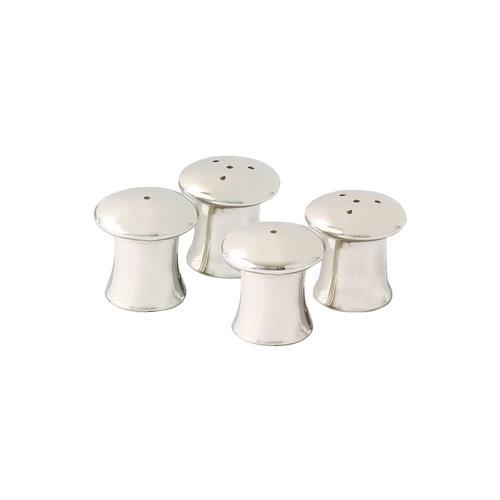 "Elegance Mushroom Salt & Pepper Shakers - Set of 4, 1.5""H, 1.25"" dia."