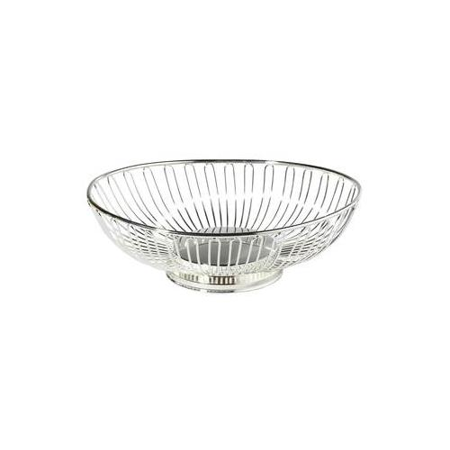 "Elegance 11"" Silver Plated Oval Basket"
