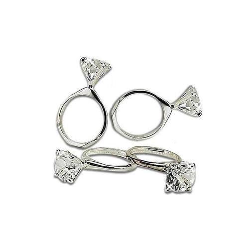"Elegance Diamond Ring Napkin Rings Set of 4, 1""x2.75""x1.75"""