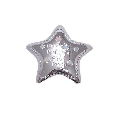Elegance Silver-Plated Little Prince Tooth Box - Star Shape, 2""