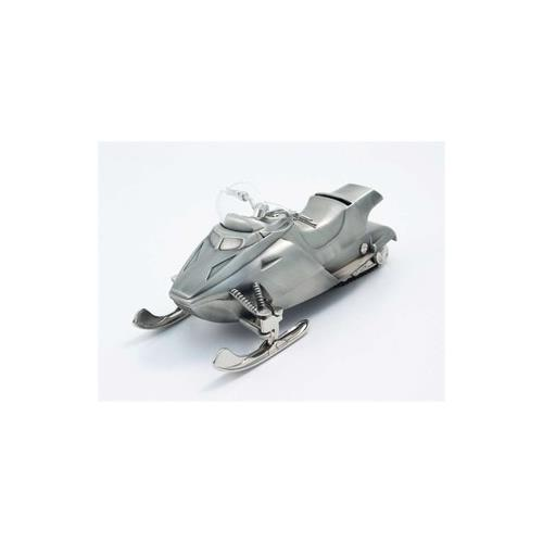 "Elegance Pewter Plated Snow Mobile Bank, 3.5""H, 7.75""L, 3.75""W"