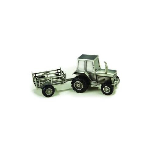 "Elegance Pewter Plated Tractor Bank, 3.25""H, 8.25""L, 3.25""W"
