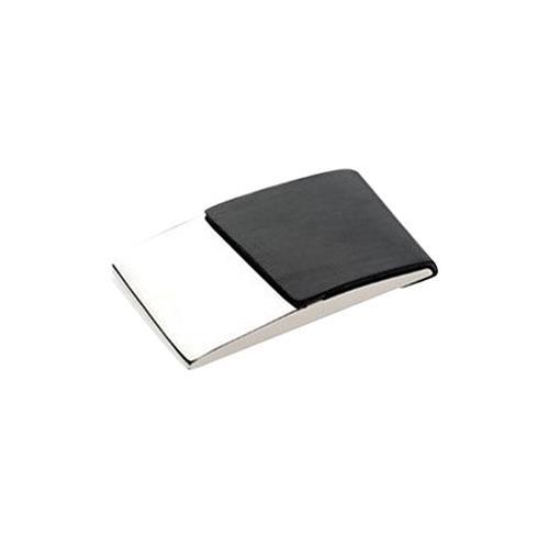 Elegance Business Card Case, Black PU/Nickel