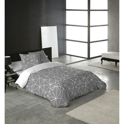 Gouchee Design Triangle Collection Cotton Percale Duvet Set - Queen - Multi-Colour