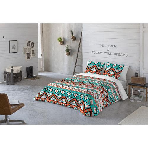 Ensemble de housse de couette en coton 200 fils Africa de Gouchee Design - 3 pièces - Grand lit