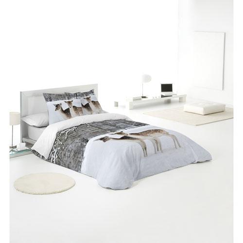 Ensemble housse de couette en coton 3 mcx Fawn de Gouchee Design - Très grand lit