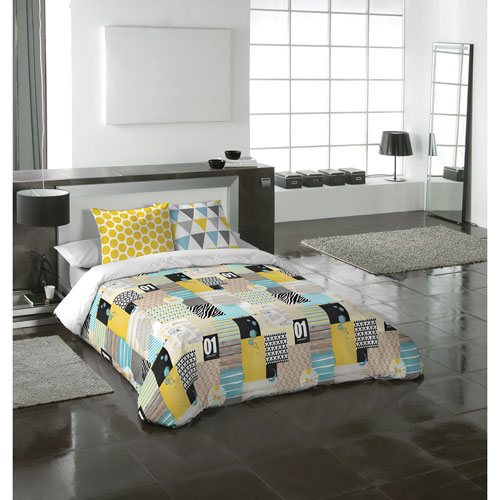 Gouchee Design iPatchwork 3-Piece Cotton Duvet Cover Set - Queen