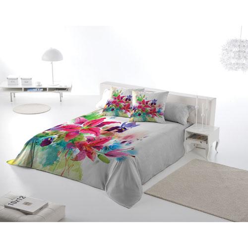 Gouchee Design Lilies 3-Piece Cotton Percale Duvet Cover Set - Queen