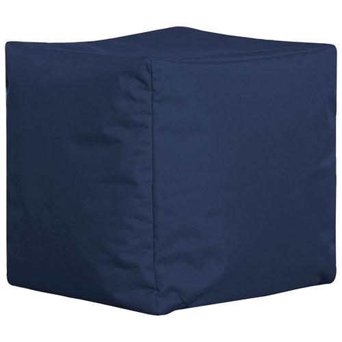 Fauteuil poire contemporain Cube Brava de Sitting Point - Bleu marine