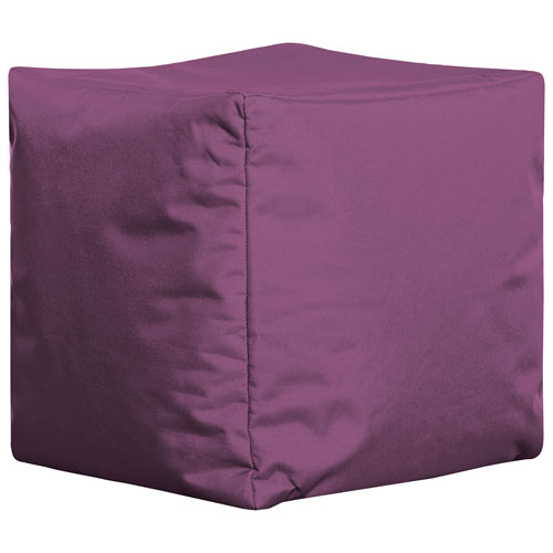 Fauteuil poire contemporain Cube Brava de Sitting Point - Violet