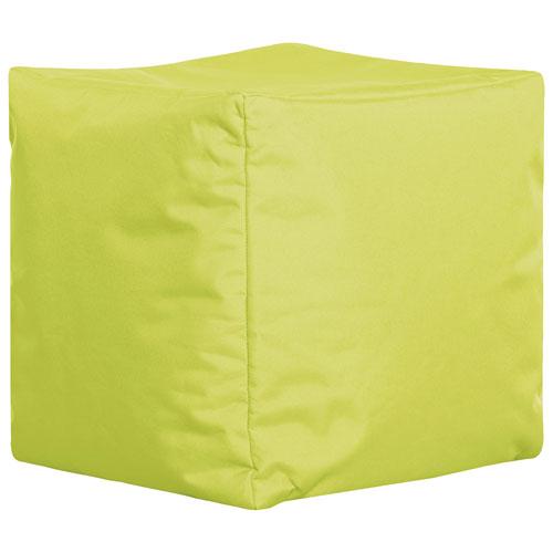 Sitting Point Cube Brava Contemporary Bean Bag Chair - Green