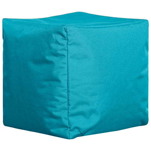 Sitting Point Cube Brava Contemporary Bean Bag Chair - Turquoise