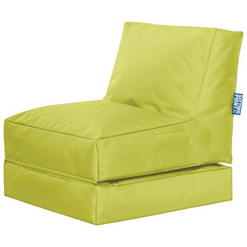 Sitting Point Twist Scuba Contemporary Bean Bag Chair - Green