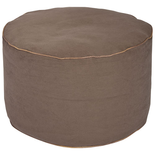 Sitting Point Dotcom Jamie Contemporary Pouf - Brown