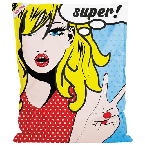 Fauteuil poire contemporain BigBag Pop Art XL de Sitting Point - Multicolore