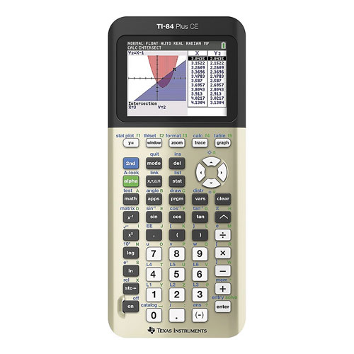 Texas Instruments TI-84 Plus Graphing Calculator - Gold