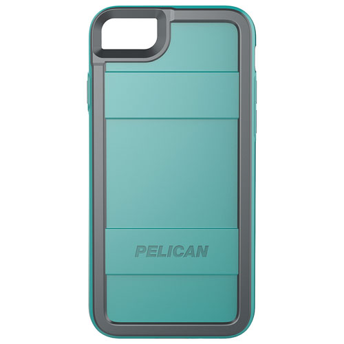 Pelican Protector iPhone 7/8 Fitted Hard Shell Case - Aqua/Grey