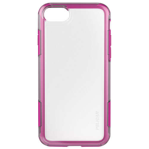 Pelican Adventurer iPhone 7/8 Fitted Hard Shell Case - Clear/Pink