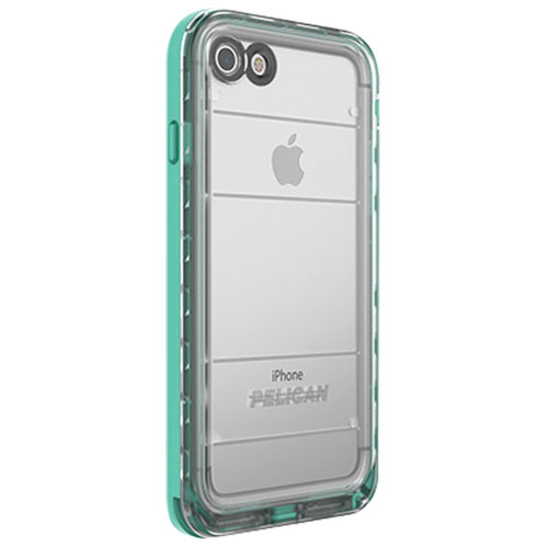 pelican cases for iphone 7. pelican marine iphone 7/8 fitted hard shell case - clear/teal cases for iphone 7