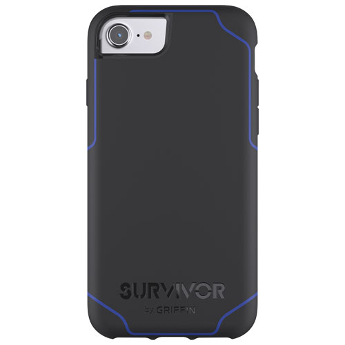 Griffin Journey iPhone 8/7/6/6S Fitted Hard Shell Case - Black/Blue