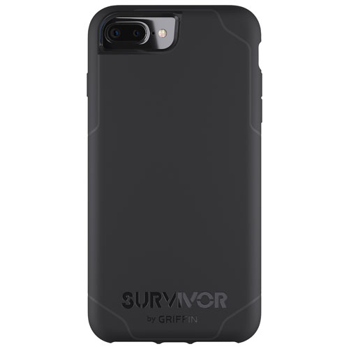 Griffin Journey iPhone 8 Plus/7 Plus/6 Plus/6S Plus Fitted Hard Shell Case - Black/Grey