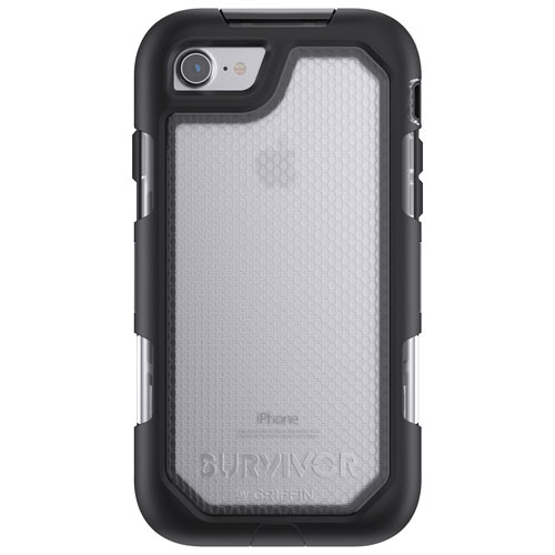 Griffin Summit iPhone 7/8 Fitted Hard Shell Rugged Case - Black/Clear