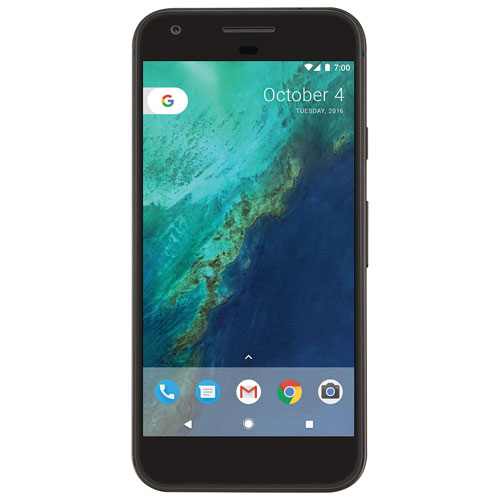Fido Pixel, Phone by Google 128GB - Quite Black - 2 Year Agreement