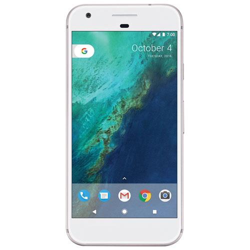 Fido Pixel, Phone by Google 128GB - Very Silver - 2 Year Agreement