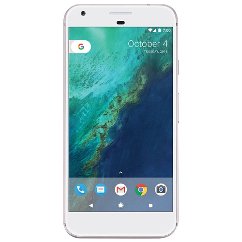 Fido Pixel XL, Phone by Google 32GB - Very Silver - 2 Year Agreement