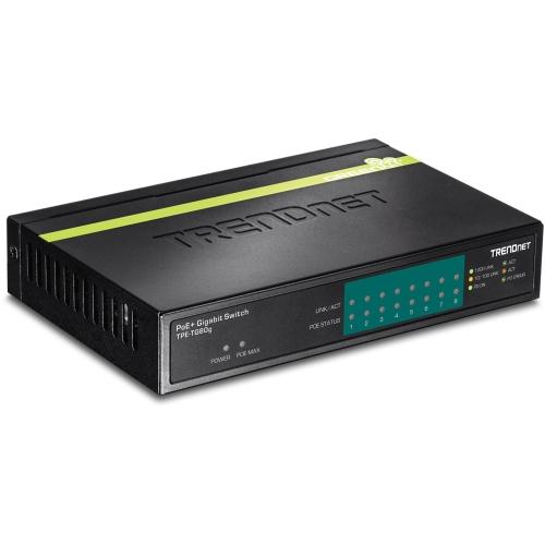 TRENDnet 8-Port Gigabit GREENnet PoE+ Switch