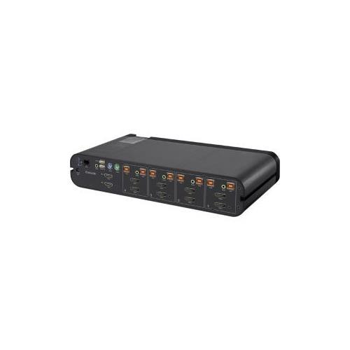 Cisco Advanced Secure 4 Port Dual Head DisplayPort KVM Switch Plus W Audio F1DN104W 3 Network Switches