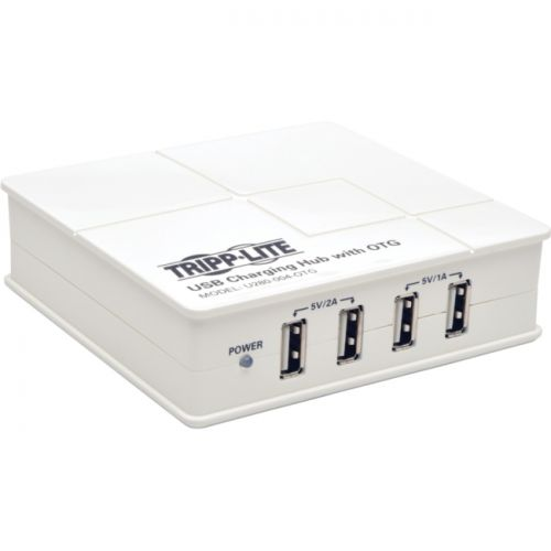Tripp Lite 4-Port USB Charging Hub w/ OTG Hub Tablet Smartphone Ipad Iphone