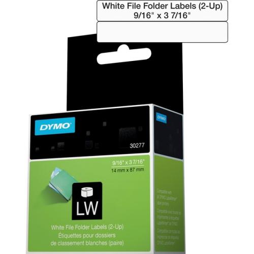 Dymo Filing Labels - LABEL L/WRITER WHT FILE FOLDER