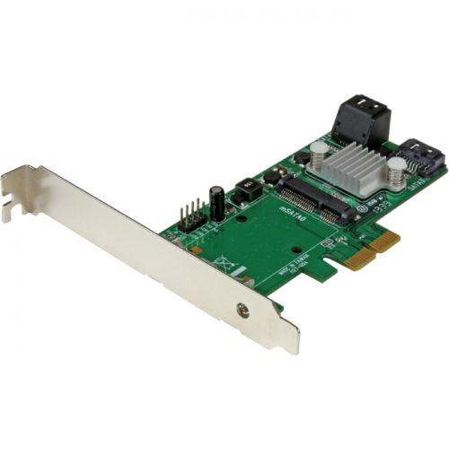 StarTech 3 Port PCI Express 2.0 SATA III 6 Gbps RAID Controller Card w/ mSATA Slot and HyperDuo SSD Tiering