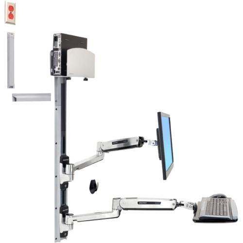 Ergotron Wall Mount Track for CPU, Flat Panel Display, Keyboard, Mouse