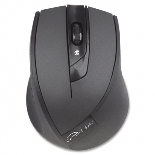 Compucessory Wireless Mouse, 2.4G, Black
