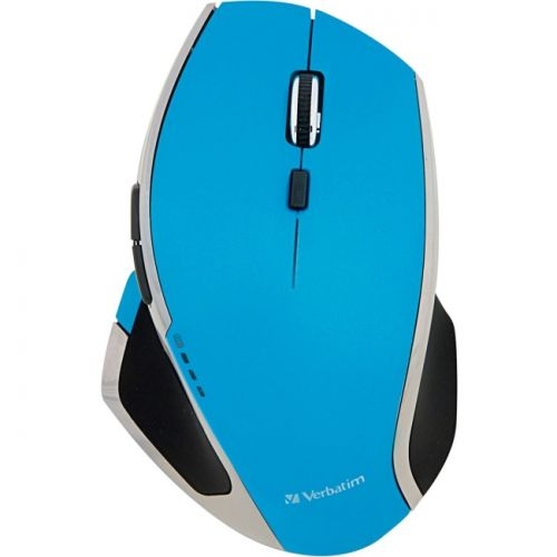 Verbatim Wireless Desktop 8-Button Deluxe Blue LED Mouse - Blue